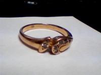 Кольцо с камнями Золото 585 (14K) вес 3.47 г