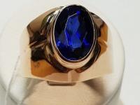 Кольцо с син кам Золото 583 (14K) вес 5.79 г