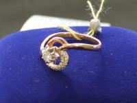 Кольцо б. кр-57 0,12ct 18 шт. Золото 585 (14K) вес 2.09 г