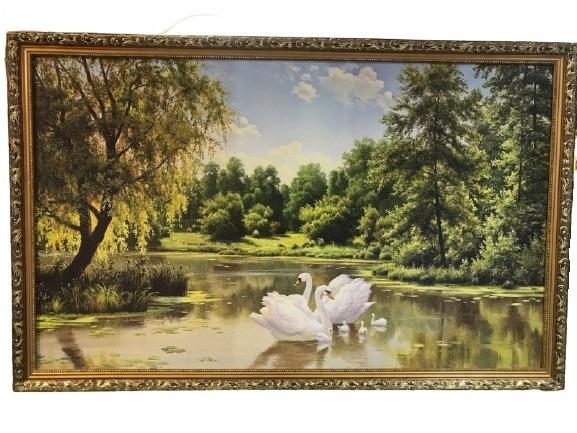 Картина «Семья лебедей»
