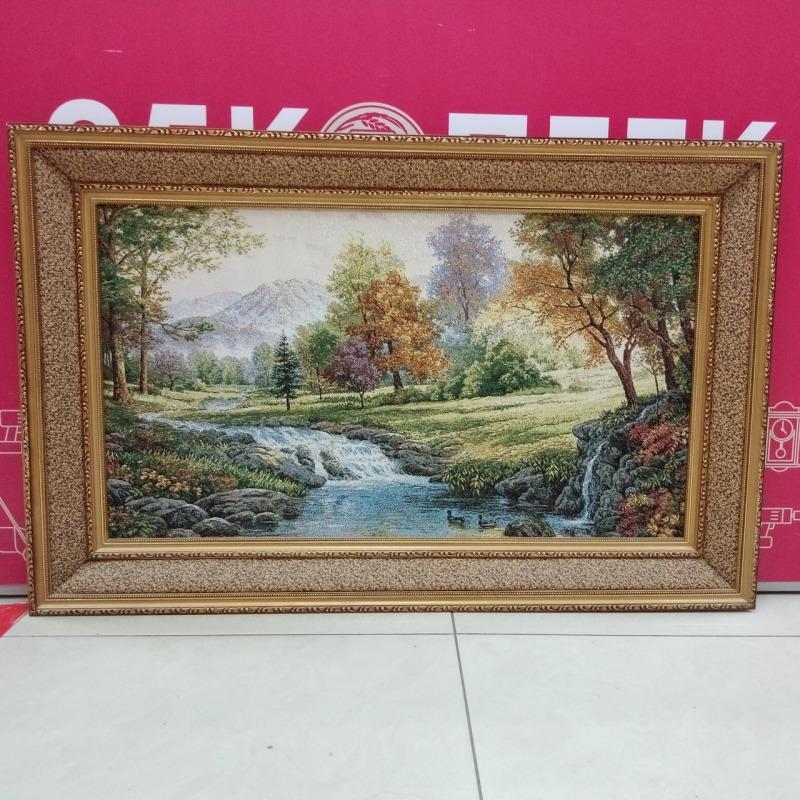 Картина гобелен «Лесной ручей»