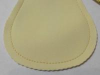 Мешочек плоский (ванильный,золотистый шнур)