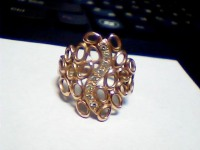 Кольцо с камнями Золото 585 (14K) вес 3.99 г