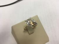 Кольцо с белыми камнями  Золото 585 (14K) вес 2.24 г