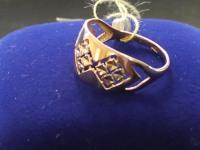 Кольцо  Золото 585 (14K) вес 1.65 г