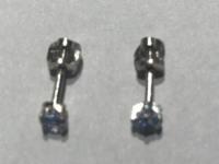 Серьги пуссеты с искусственными топазами  Серебро 925 вес 0.75 г