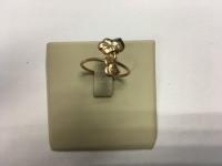 Кольцо ..листики -поцелуйчики . Золото 585 (14K) вес 1.80 г