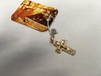 Крестик детский ажурный  Золото 585 (14K) вес 1.31 г