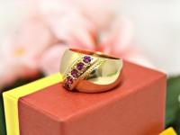 Кольцо с камнями Золото 585 (14K) вес 6.00 г