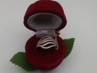 Кольцо с камнями Золото 585 (14K) вес 4.18 г