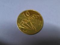 Монета 999,9 Золото 585 (14K) вес 9.18 г