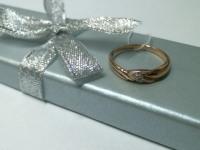 Кольцо 3 бриллианта Золото 585 (14K) вес 2.03 г