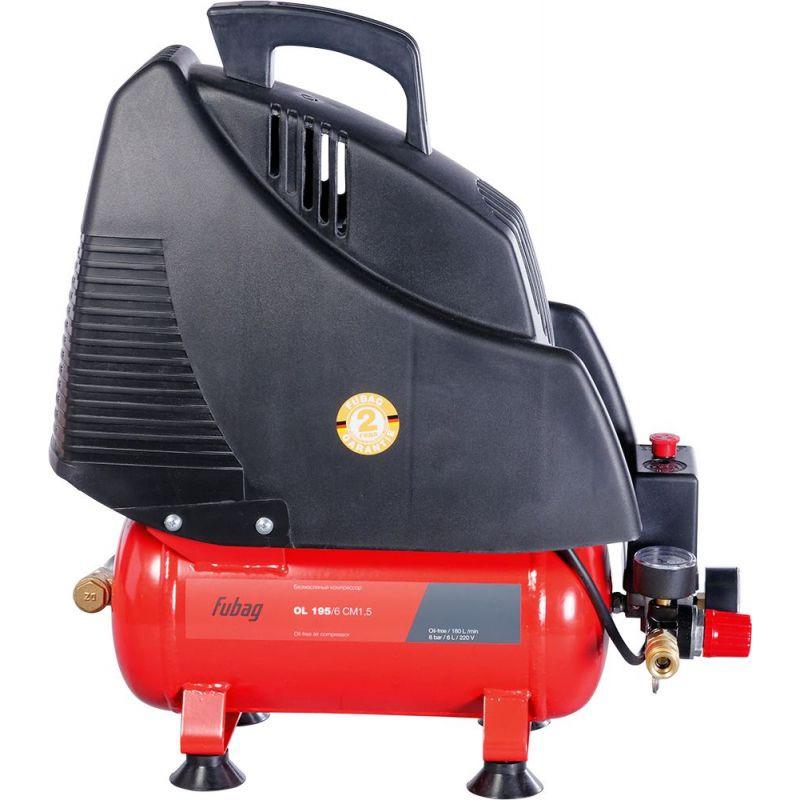 Компрессор безмасляный Fubag Wood Master Kit, 6 л, 1.1 кВт