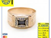 Печатка с камнями Золото 585 (14K) вес 3.34 г