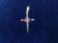 Крест с камнями Золото 585 (14K) вес 1.43 г