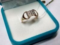 Кольцо с бриллиантАМИ Золото 585 (14K) вес 2.12 г