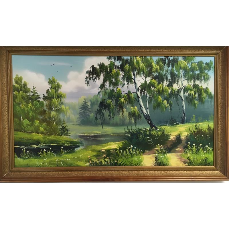 Картина «Береза у реки»