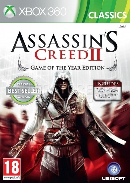 Диск Xbox 360 Assassin's Creed II
