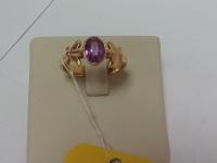 Кольцо с синт.вставкой ,б\у,п/ц Золото 585 (14K) вес 4.40 г