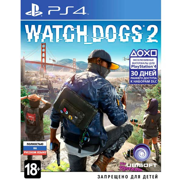 Диск PS4 Watchdogs 2