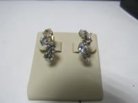 Серьги с камнями   Золото 585 (14K) вес 4.25 г