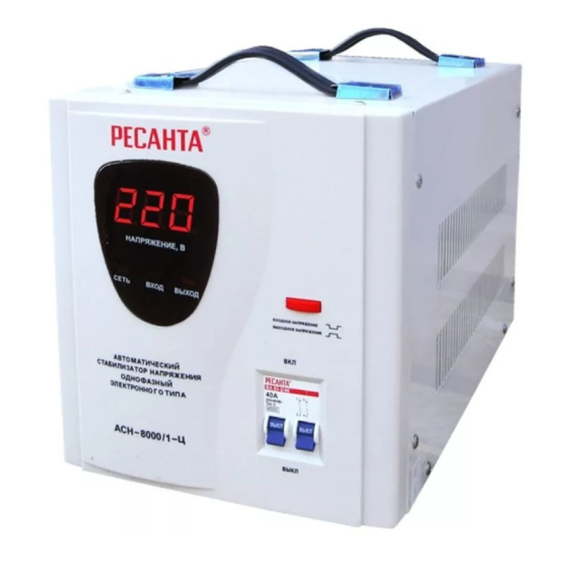 Стабилизатор напряжения однофазный РЕСАНТА ACH-10000/1-Ц
