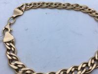 Браслет мужской плетение нона Золото 585 (14K) вес 7.90 г