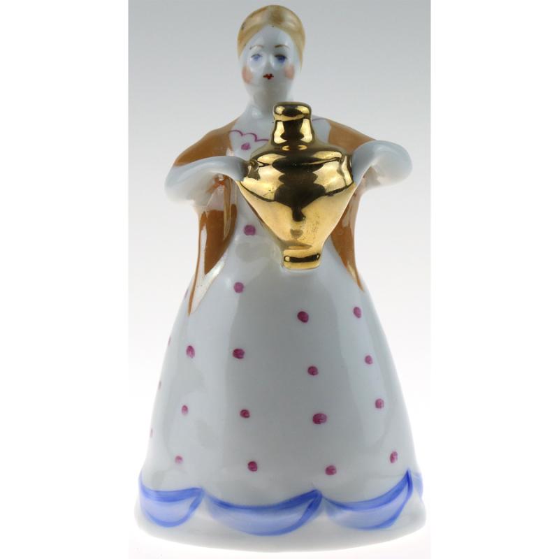 Фарфоровая статуэтка Женщина с самоваром