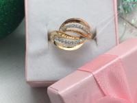Кольцо с камнями  Золото 585 (14K) вес 2.88 г