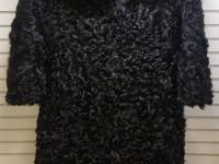Шуба черная Длинная (Баран)