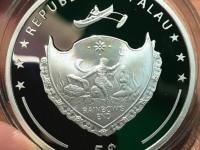 Монета 5 долларов 2017 Palau Серебро 925 вес 31.10 г