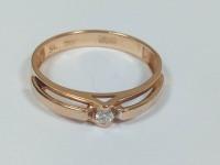 Кольцо с бриллиантом Золото 585 (с БР) вес 1.92 г