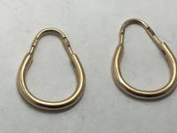 Серьги конго  Золото 583 вес 2.05 г