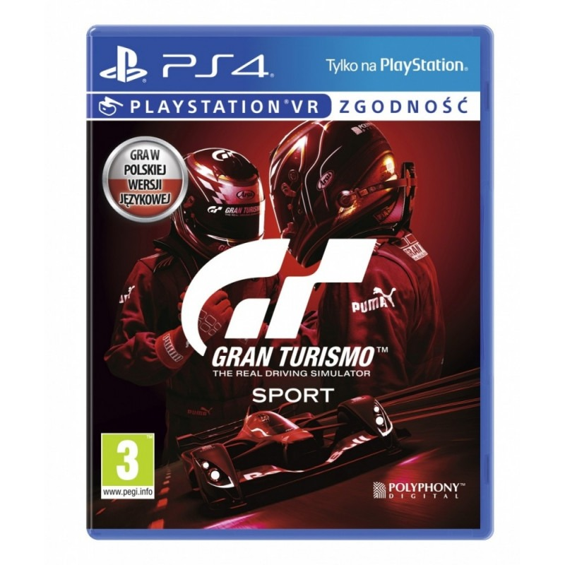 Диск для PS4 Gran Turismo Sport