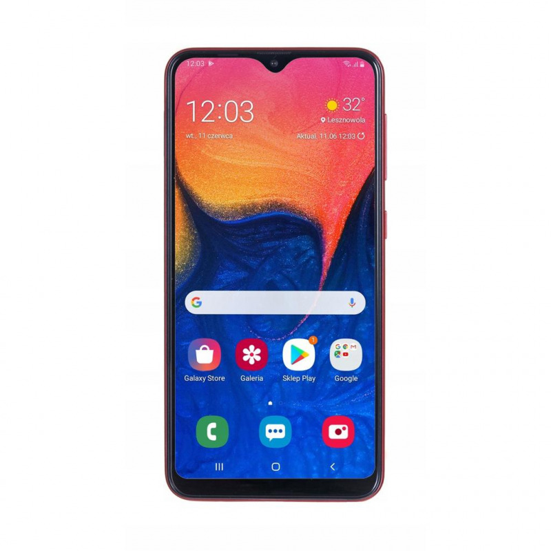 Смартфон Samsung Galaxy A02 2/32GB, красный