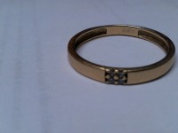 Кольцо  с камнями Золото 585 (14K) вес 1.55 г