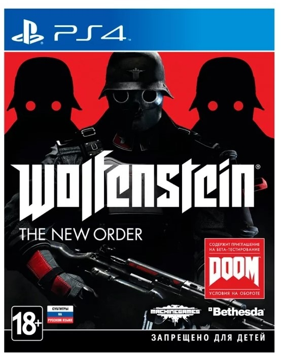 Диск PS4 Wolfenstein: The New Order