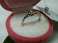 Кольцо с бриллиантом Золото 585 (14K) вес 1.61 г