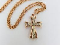 Крест Золото 585 (14K) вес 3.41 г
