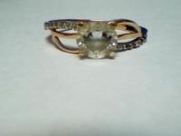 Кольцо с камнями Золото 585 (14K) вес 2.08 г