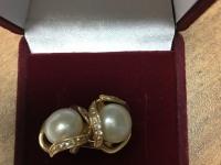 Серьги с камнями   Золото 585 (14K) вес 3.40 г