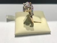 Кольцо с изумрудами ,сапфирами,рубинами и бриллиантами  Золото 585 (14K) вес 5.15 г
