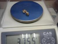 Серьги с 8 синт. вст. Золото 585 (14K) вес 3.75 г