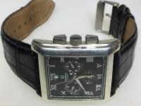 Часы наручные Ника, коричн.циферблат,прямоуг.формы,черный ремень,б/у,п/ц