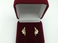 Серьги с камнями Золото 585 (14K) вес 3.94 г