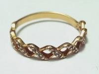 Кольцо с множеством белых камней Золото 585 (14K) вес 1.33 г