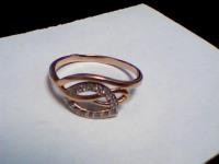 Кольцо с камнями Золото 585 (14K) вес 2.02 г