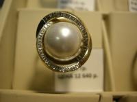 Кольцо с жемчугом Золото 585 (14K) вес 7.10 г