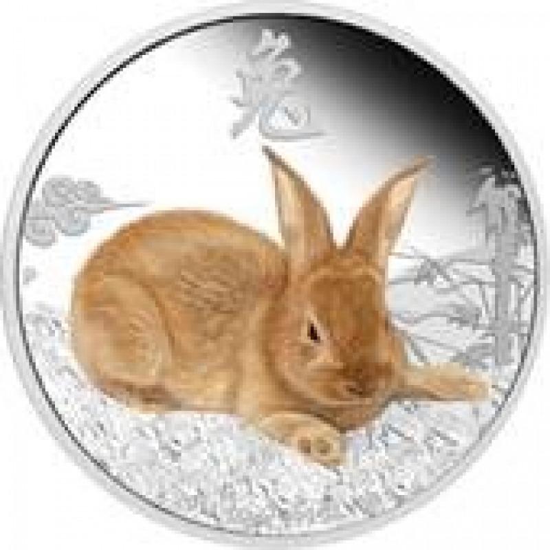 Монета Серебро Заяц