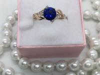 Кольцо с камнями  Золото 585 (14K) вес 1.65 г